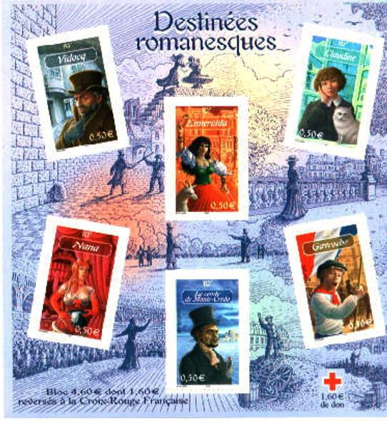 Romantic Classic Book Characters Sheetlet of 6 - Conte de Mo