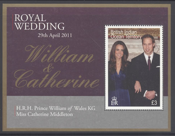 Royal Wedding- souvenir sheet- Pr William- Catherine Middleton
