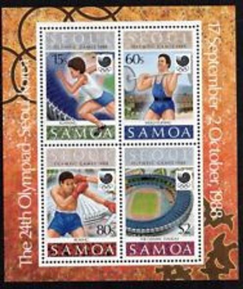 SAMOA (1988) Olmpics, Weightlifting Sheet