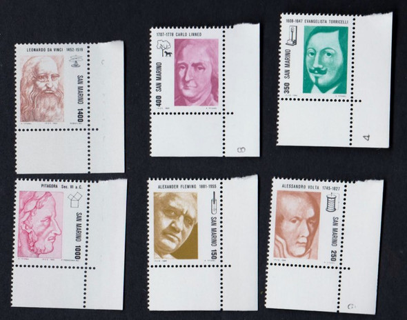 SAN MARINO  (1983) FAMOUS People , Scienists (6v)