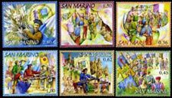 San Marino (2006) Crossbow, Parade, Fair (6v)