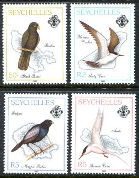 SEYCHELLES- BIRDS- 4 VALUES