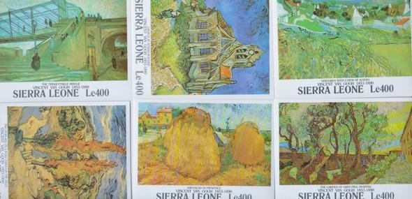 SIERRA LEONE (1991) Van Gogh ART Paintings Sheet set (6)