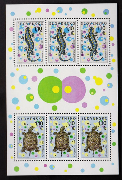 SLOVAKIA (2009) Turtle Salamander Full Sheet SCV$20