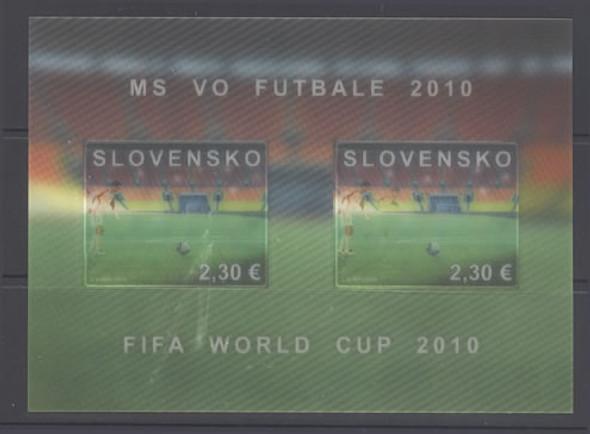 SLOVAKIA- World Cup Soccer 2010- souvenir sheet- moving image