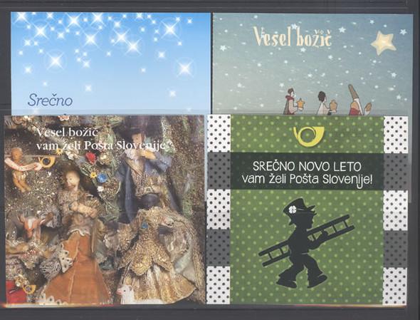 SLOVENIA: Christmas 2014 Booklets- self-adhesive (4)