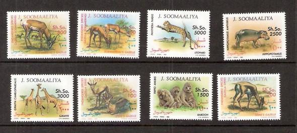SOMALIA (1992)- ENDANGERED AFRICAN ANIMALS (8 VALUES)
