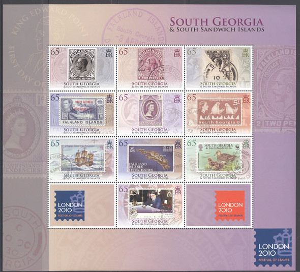 SOUTH GEORGIA (2010) London Exhibition- Sheet of 10