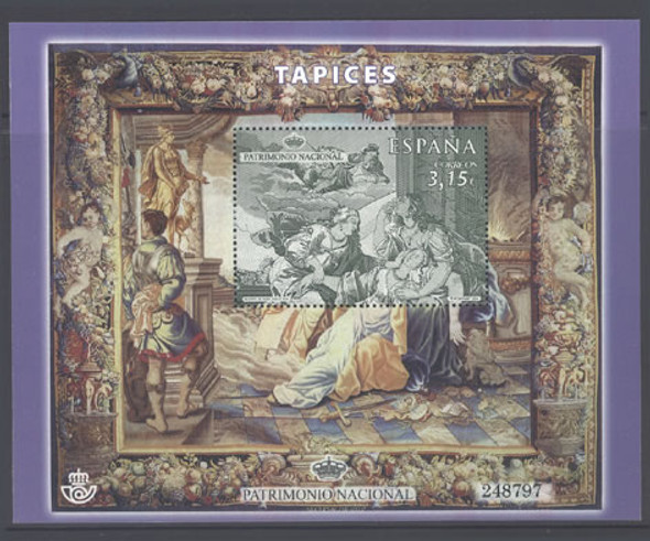 SPAIN (2014): National Heritage- Tapestry souvenir sheet
