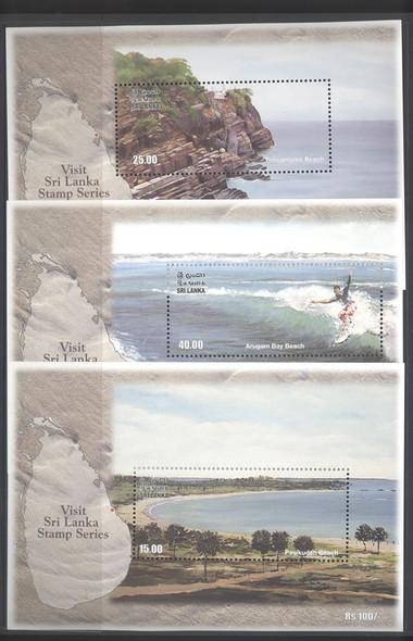 SRI LANKA- Beaches- souvenir sheet- Visit Sri Lanka Series (3)