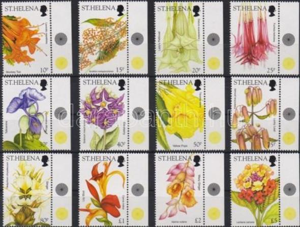 St. Helena (2003): Wild Flower Definitives- 12 values