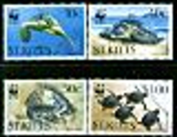 ST. KITTS (1995)- WWF- Green Turtles (4)