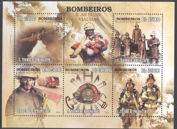 ST. THOMAS (2010) Fire Fighting- Sheet of 5