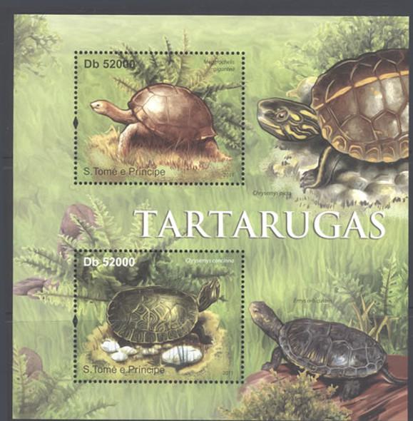 ST. THOMAS: Turtles 2011- Sheet of 2