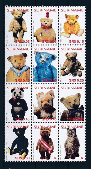 SURINAM (2004) - Classic Teddy Bears (12 values)