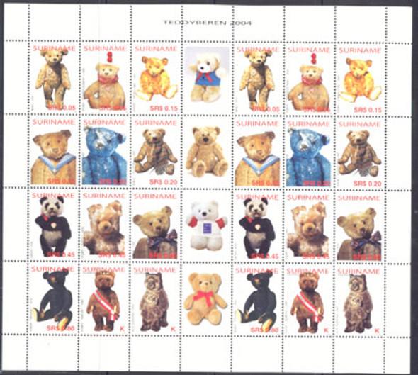 SURINAM (2004) Teddy Bears Sheetlet of 2 sets