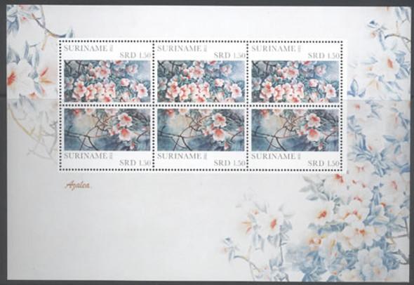 SURINAM (2011)- Azalea (Flowers) - Sheet of 6