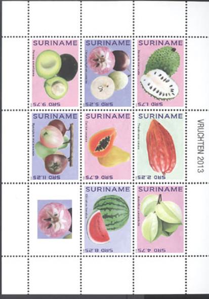SURINAM (2013) - Fruit- Sheet of 8