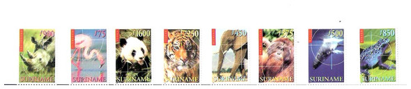 SURINAM - (1999) ENDANGERED ANIMALS (8 VALUES)