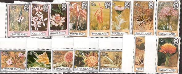 SWAZILAND (1982)- WILDFLOWERS & NATIVE PLANTS- 15 VALUES