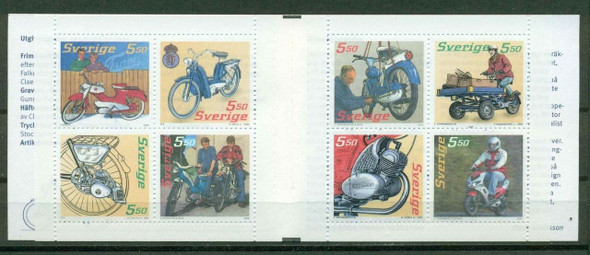 SWEDEN (2005)- Mopeds Booklet of 8 values