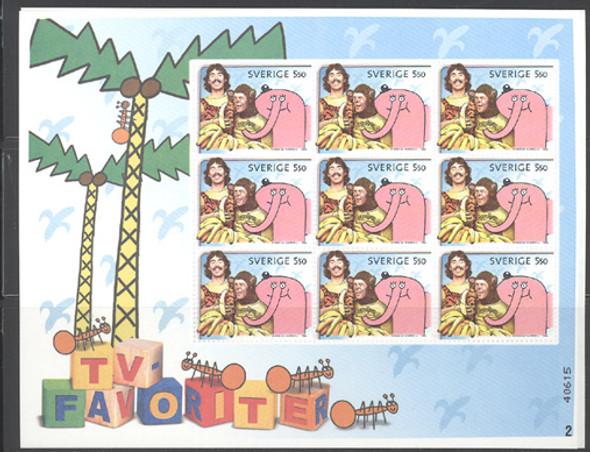 SWEDEN (2006)- Children  TV Sheet- Cartoon Characters- 9 values