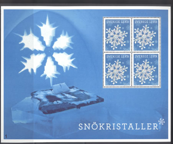 SWEDEN (2011) Snow Crystals Sheet of 4 values