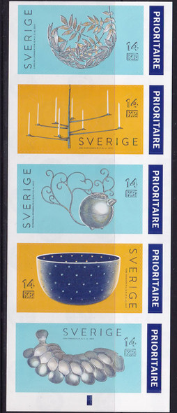 SWEDEN (2016) : Iron Face Silver Works Booklet- self-adhesive
