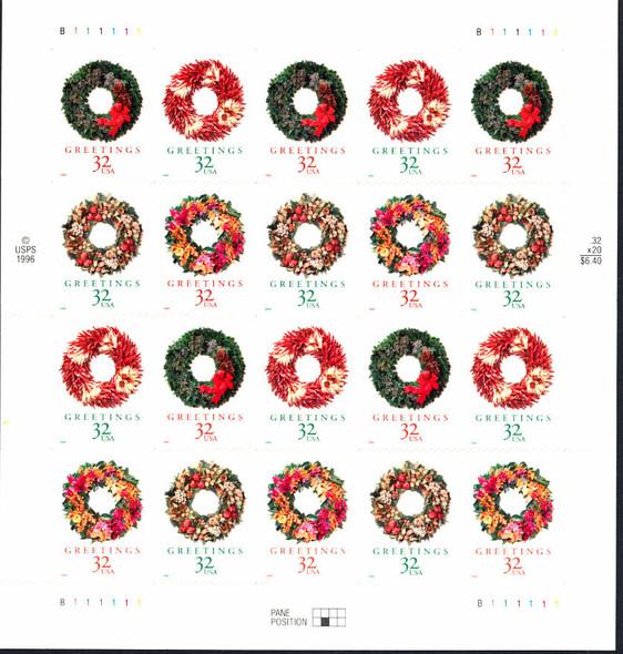 32c Christmas Wreaths (1998)