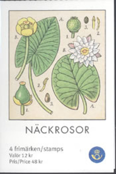 SWEDEN- Water Lilies Booklet- dragonfly