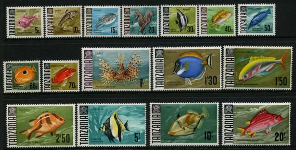 Tanzania (1973): Fish (16 values)