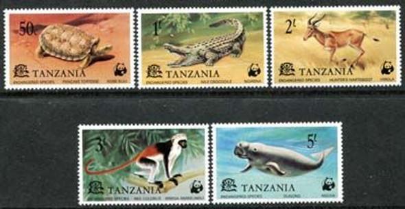TANZANIA (1977): WWF Endangered Species Set of 5