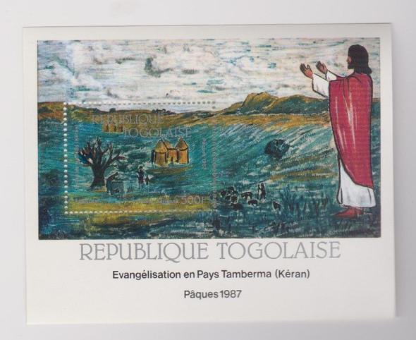 TOGO (1987) ART RELIGIOUS Sheet