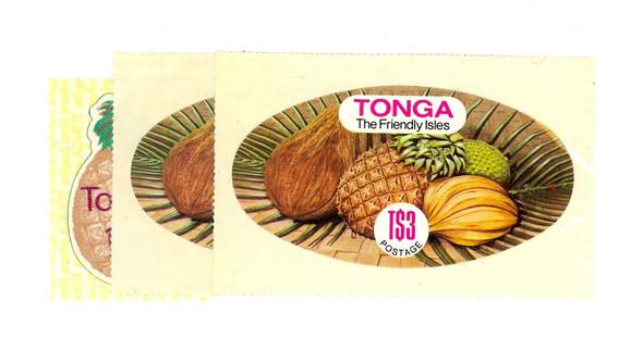 TONGA (1982)- PINEAPPLES AND FRUITS -SCV=$32.50!