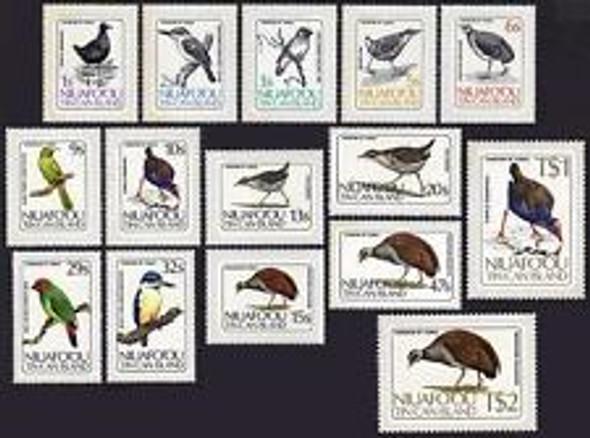 TONGA NIUAFO'OU, (1986) BIRDS Honey-eater,Swamphen,Rail
