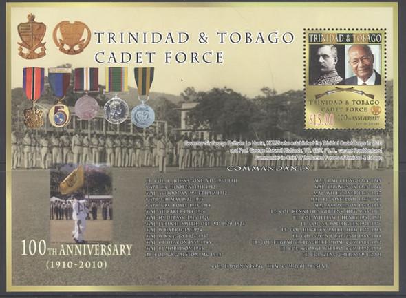 TRINIDAD- Cadet Force 2010 100th Anniv s.s.