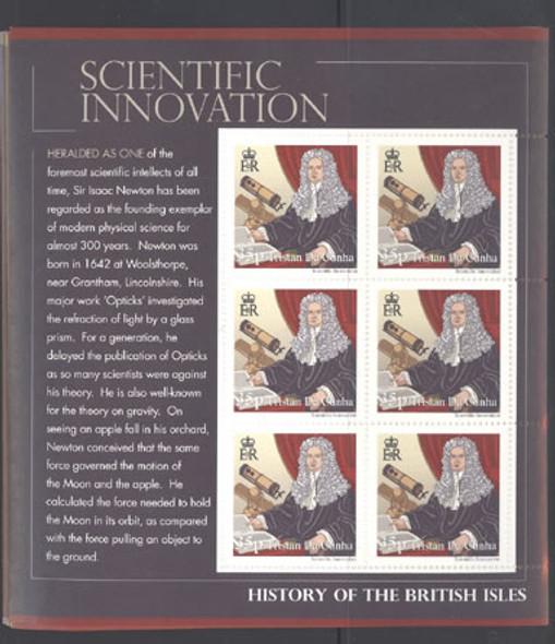 TRISTAN DA CUNHA- History of the British Isles- mini-sheet of 6 (8)