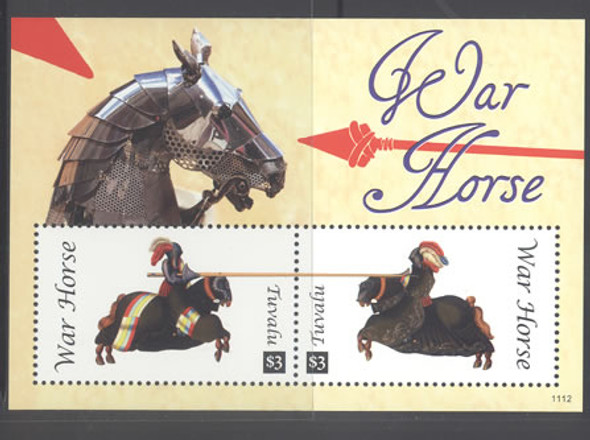 TUVALU- War Horses- Sheet of 2