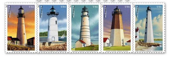 U.S. (2013) - New England Coastal Lighthouses-- Sheet of 20