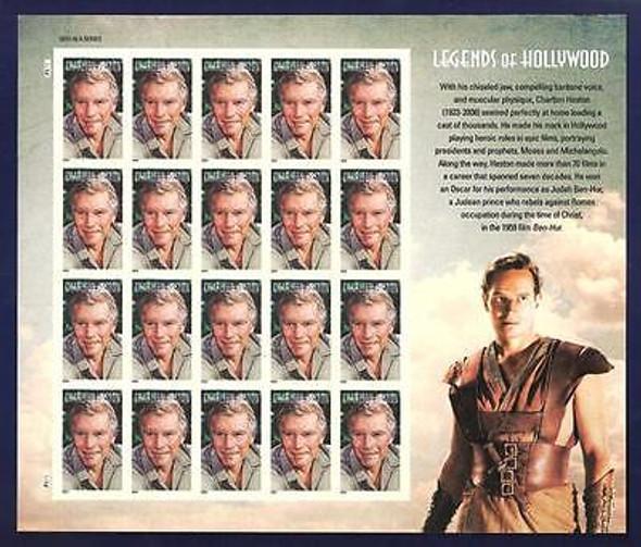 U.S.-(2014)- Charlton Heston Legends of Hollywood Sheet