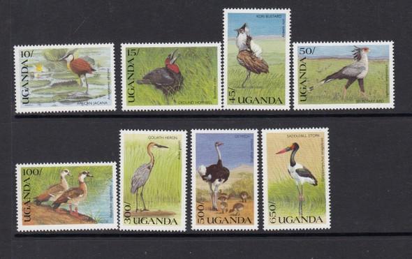 UGANDA (1990)- Wild Birds- 8v