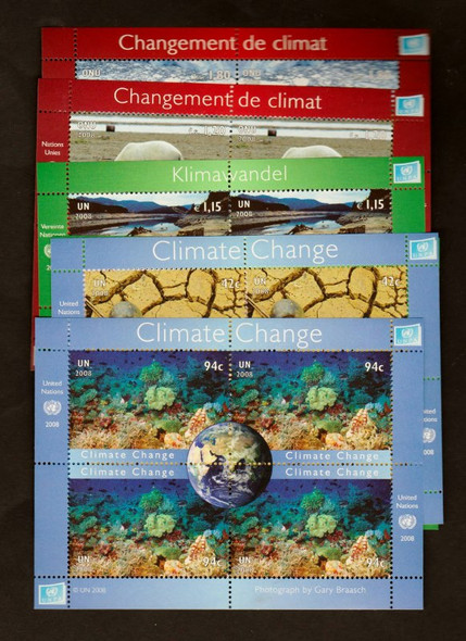 UNITED NATIONS (2008) CLIMATE CHANGE Sheets Set of 6