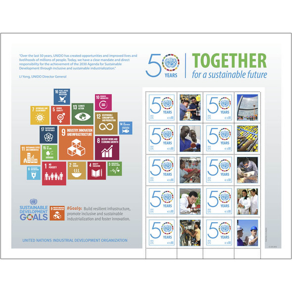UNITED NATIONS (2016) : UNIDO 50 years Development Goals- Sheet of 10