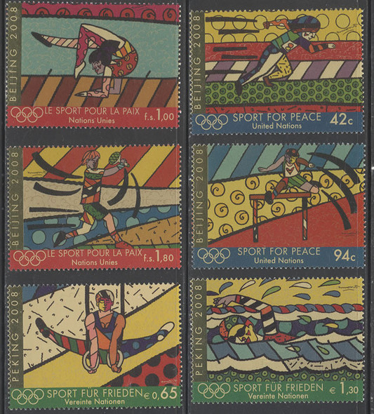 UNITED NATIONS- Beijing 2008 Olympics/Sport For Peace- gold foil