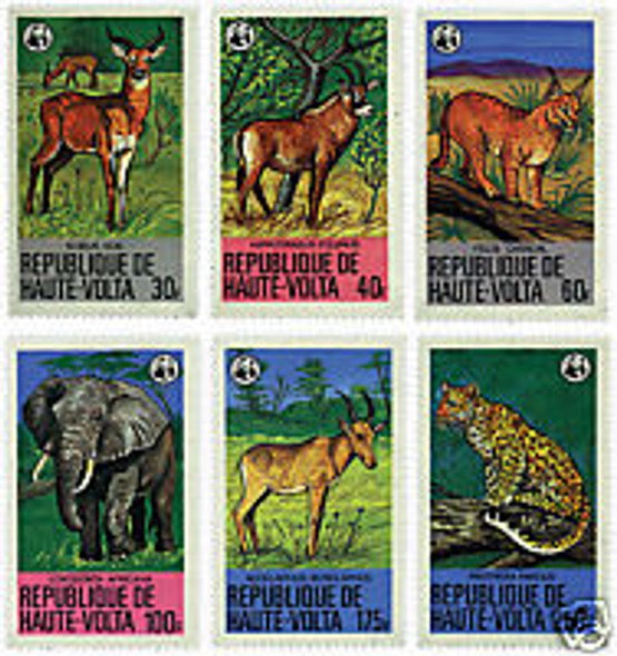 UPPER VOLTA (1979)- WWF ENDANGERED ANIMALS  (4 values)