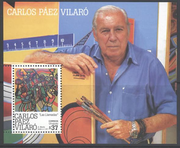 URUGUAY- Carlos Vilaro Painting- souvenir sheet