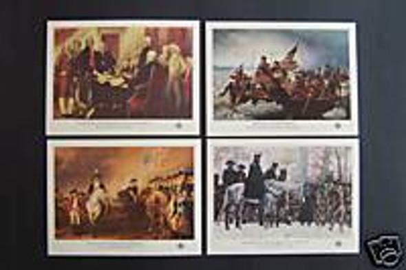US (1976): BICENTENNIAL SOUVENIR SHEETS (4) COMPLETE SET