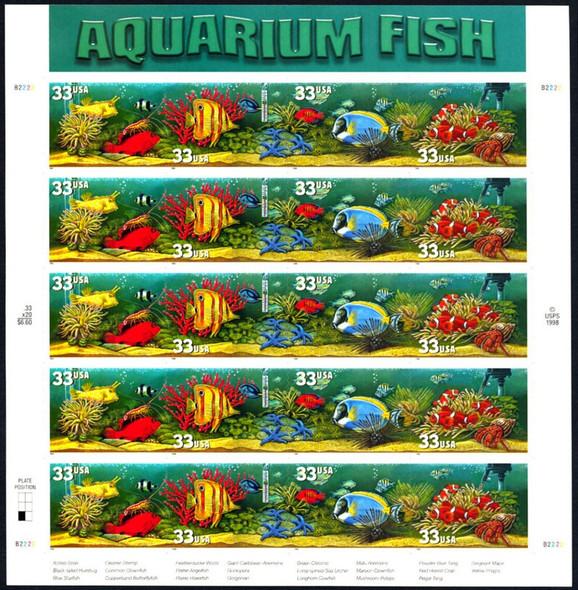 US (1999)- Aquarium Fish Sheet- SC#3317-20