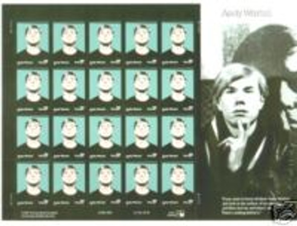 US (2002)- Andy Warhol Sheet of 20- #3652
