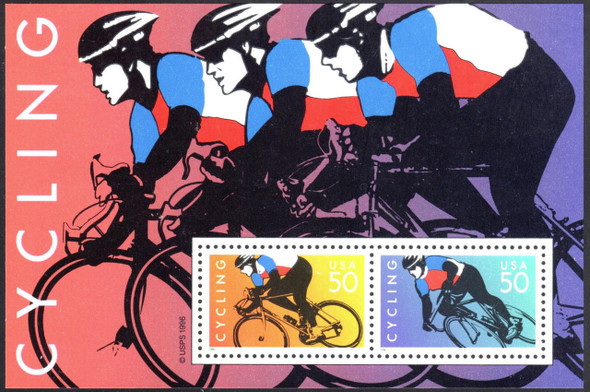 US (1997) : Cycling Souvenir Sheet